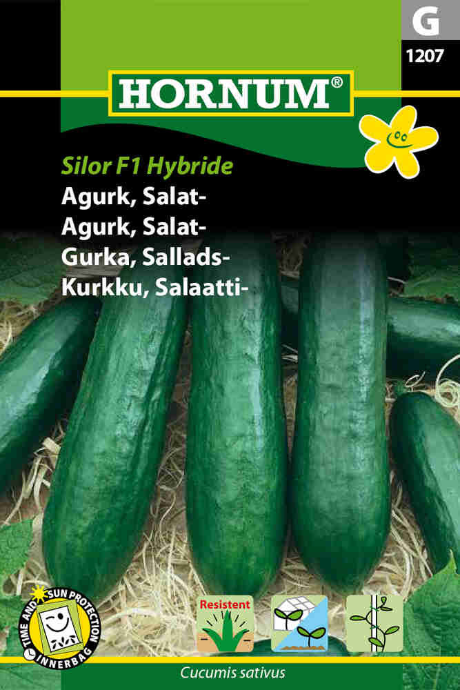 Agurkefrø - Salatagurk - Silor F1 Hybride