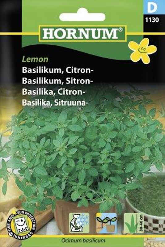 Basilikumfrø - Citron - Lemon