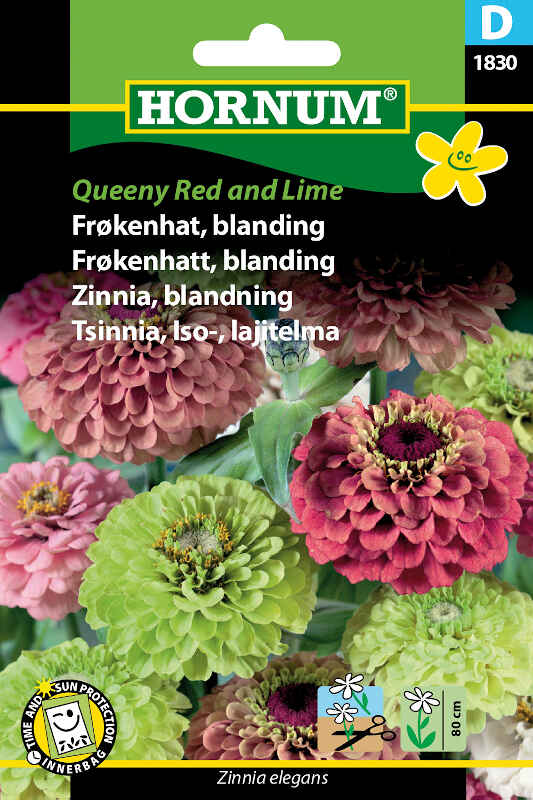 Frøkenhat frø - blanding Queeny Red and Lime