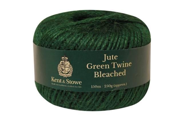 Jute Twine Bleached Green 150m 250gm