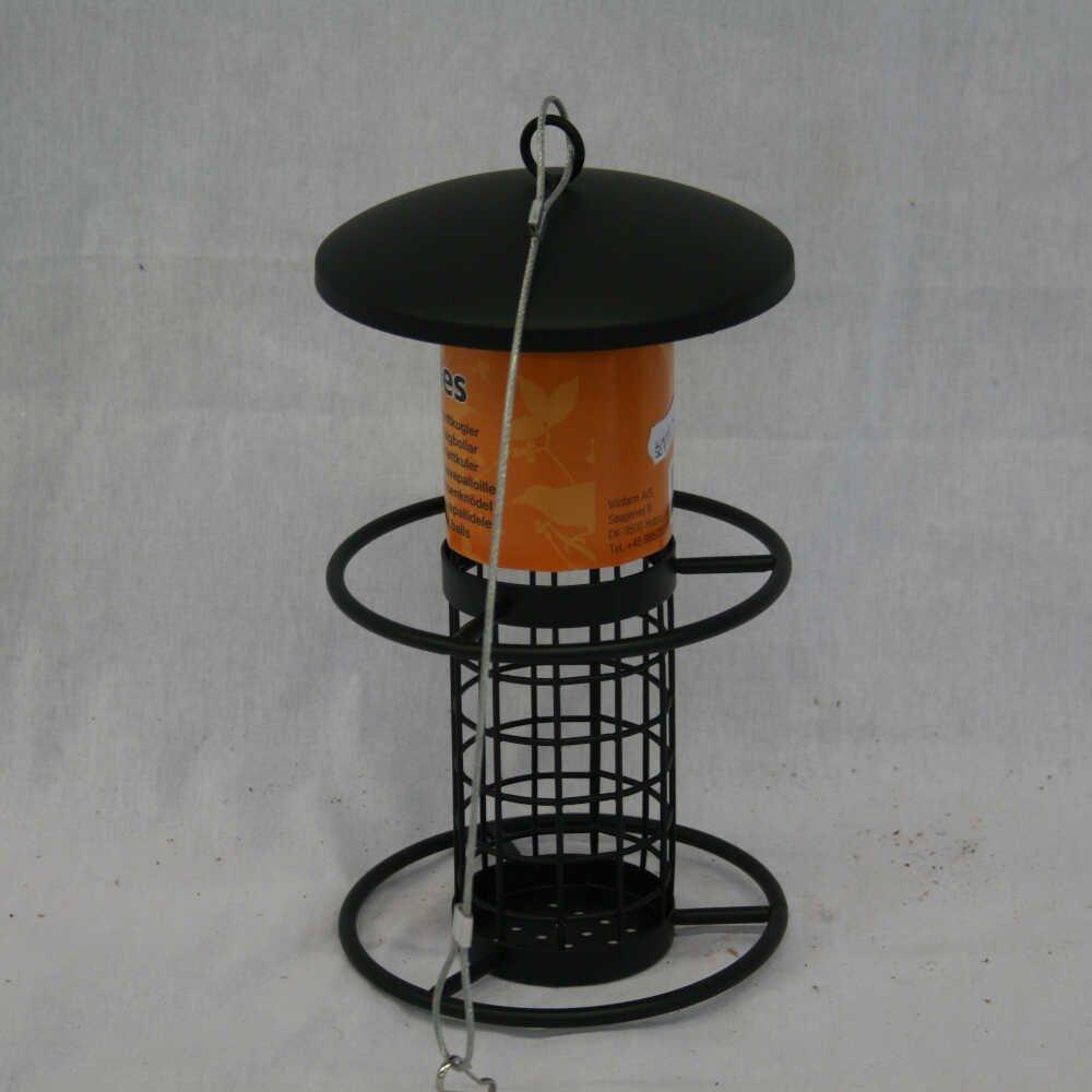 Fuglefoderautomat til peanuts - Sort metal