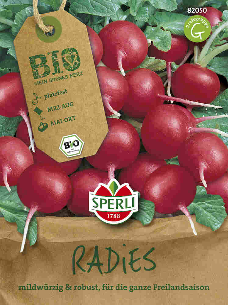 Radisefrø - Radies Cherry Belle - Økologisk