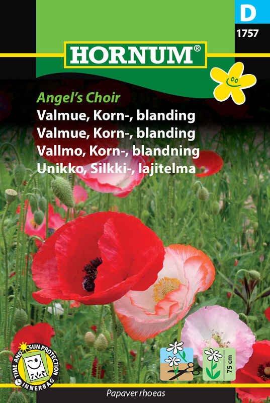 Valmuefrø - Kornvalmue - blanding - Angel's Choir