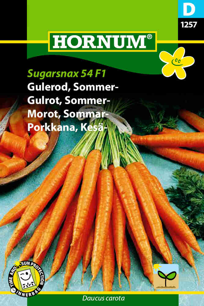 Gulerodsfrø - Sommergulerod - Sugarsnax 54 F1
