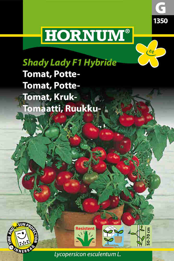 Tomatfrø - Potte - Shady Lady F1 Hybr.
