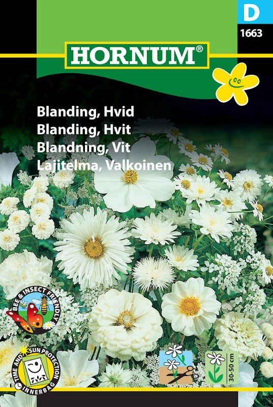 Blomster frøblanding - Hvid