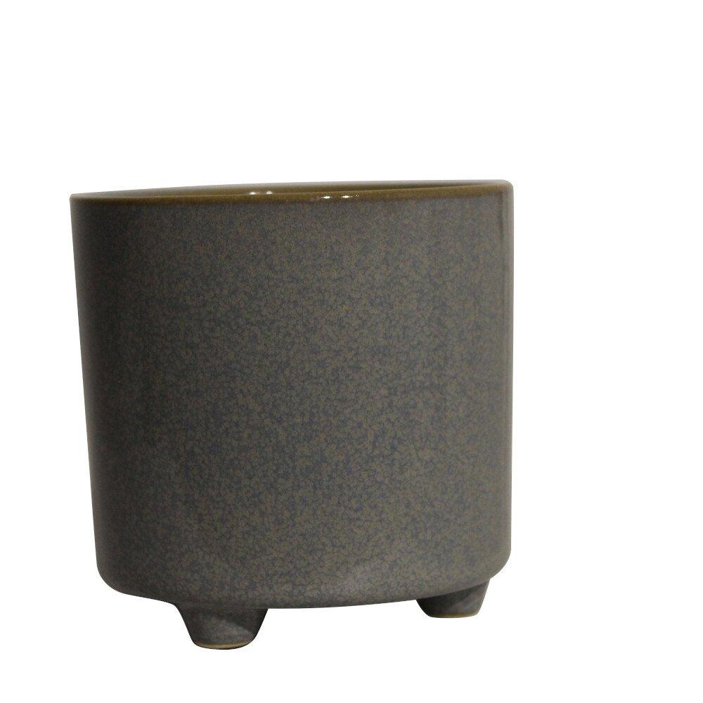 Skjuler - Bellis pot w/foot 12cm Grey