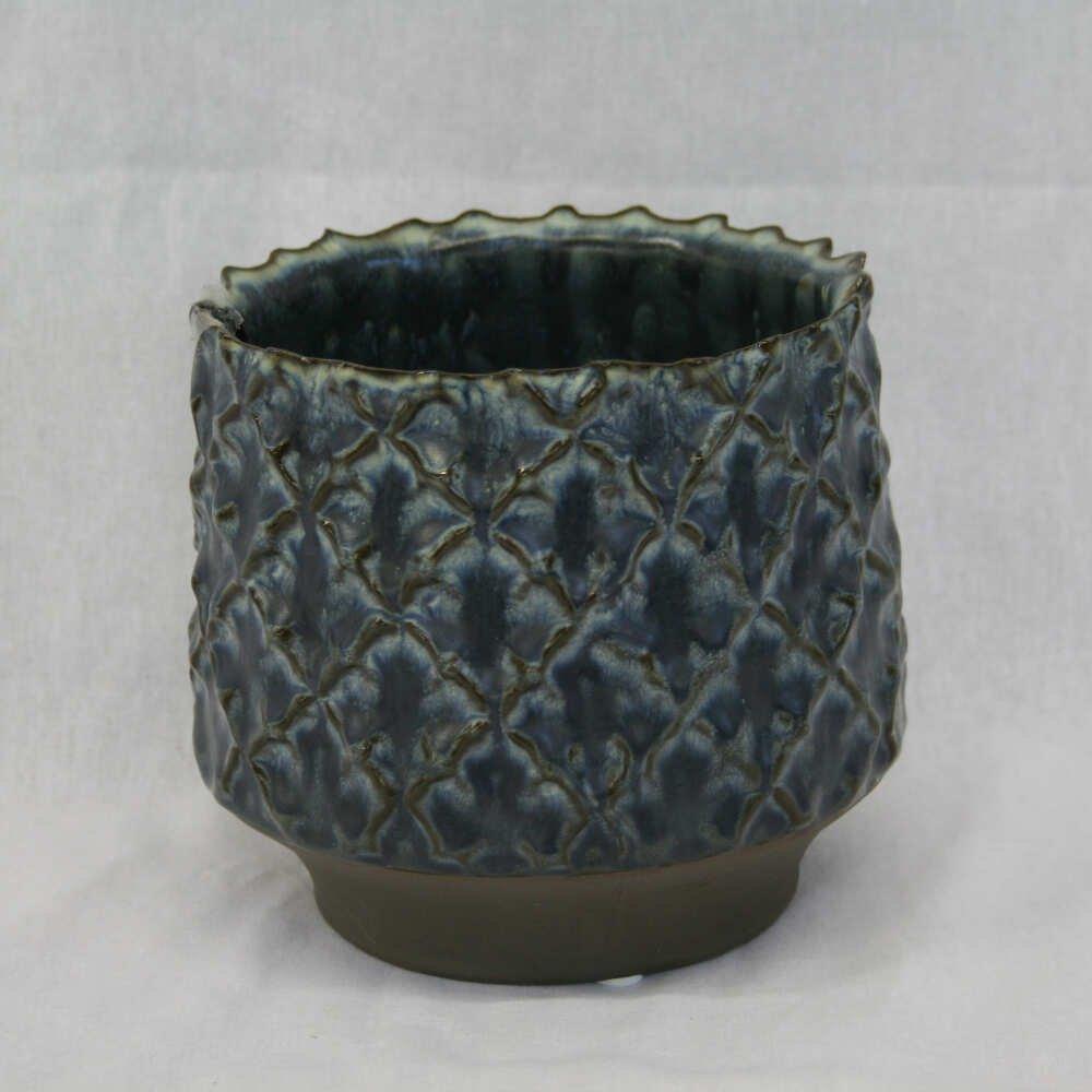 Pot Star 12x14 cm Blå