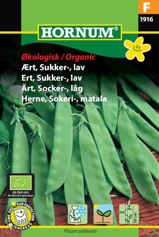 Ærte frø - Sukker - Økologisk - lav - Norli