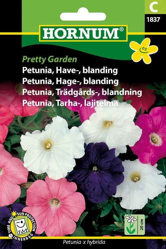 Peutnia frø - Havepetunia - blanding Pretty Garden