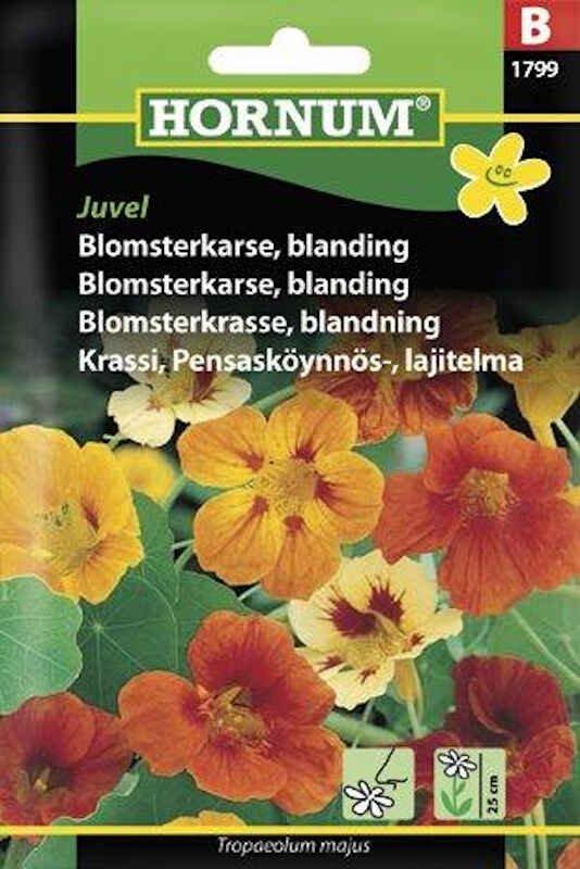 Blomsterkarse frø - blanding - Juvel