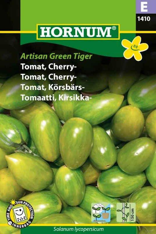 Tomatfrø - Cherrytomat - Artisan Green Tiger