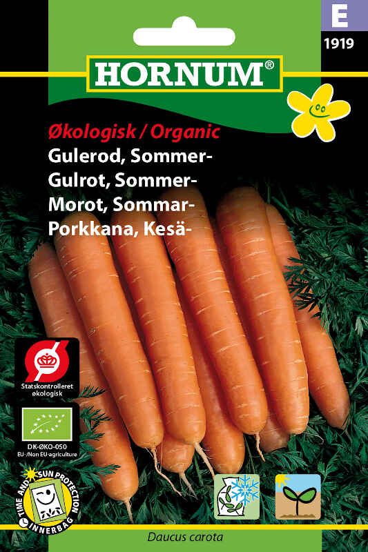 Økologisk Gulerods frø - Sommer - Nantaise 2