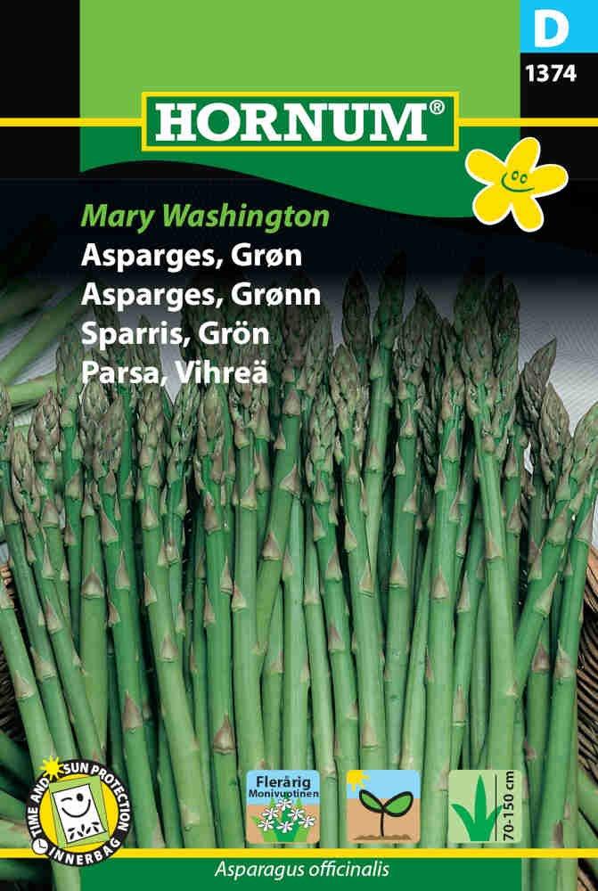 Asparges frø - Grøn, Mary Washington