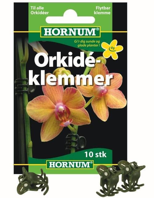 Orkideklemmer, grønne 10 stk. - HORNUM