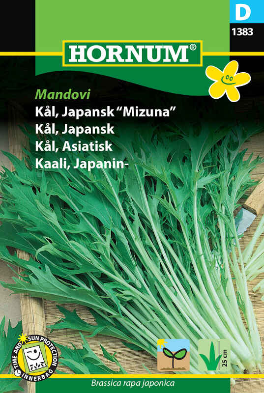 "Kålfrø - Japansk ""Mizuna"" Mandovi"