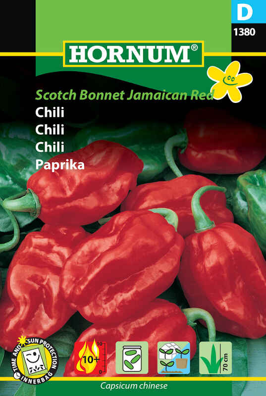 Chilifrø - Scotch Bonnet Jamaican Red