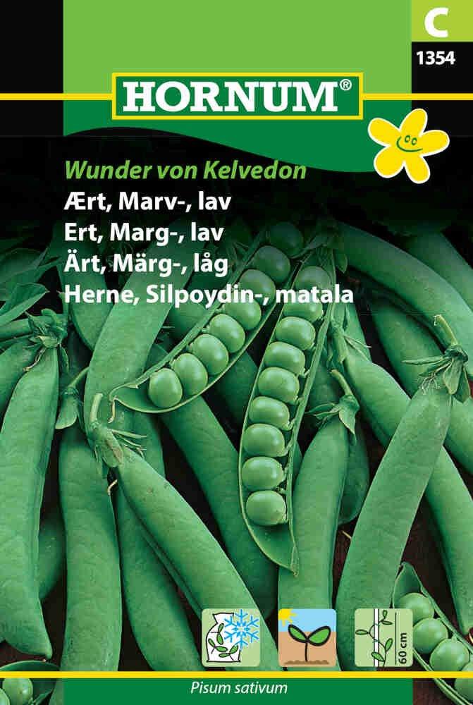Ærtefrø - Marvært - lav, Wunder von Kelvedon