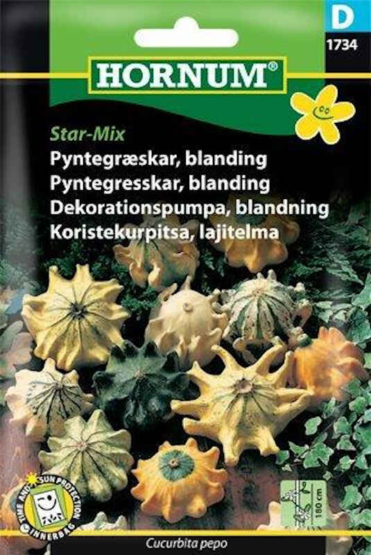 Pyntegræskar frø - blanding - Star-Mix
