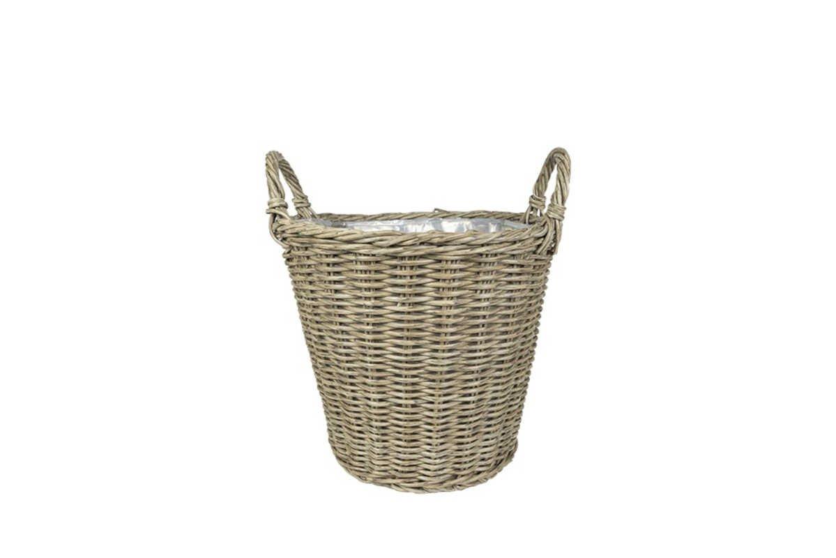Nanna Basket W/Handle Stackable - Nature D36