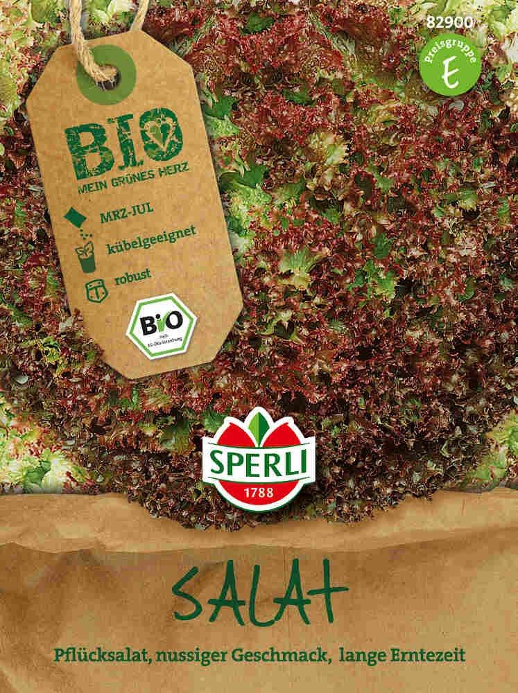 Pluksalatfrø, rød - Salat Lolla rossa - Økologisk