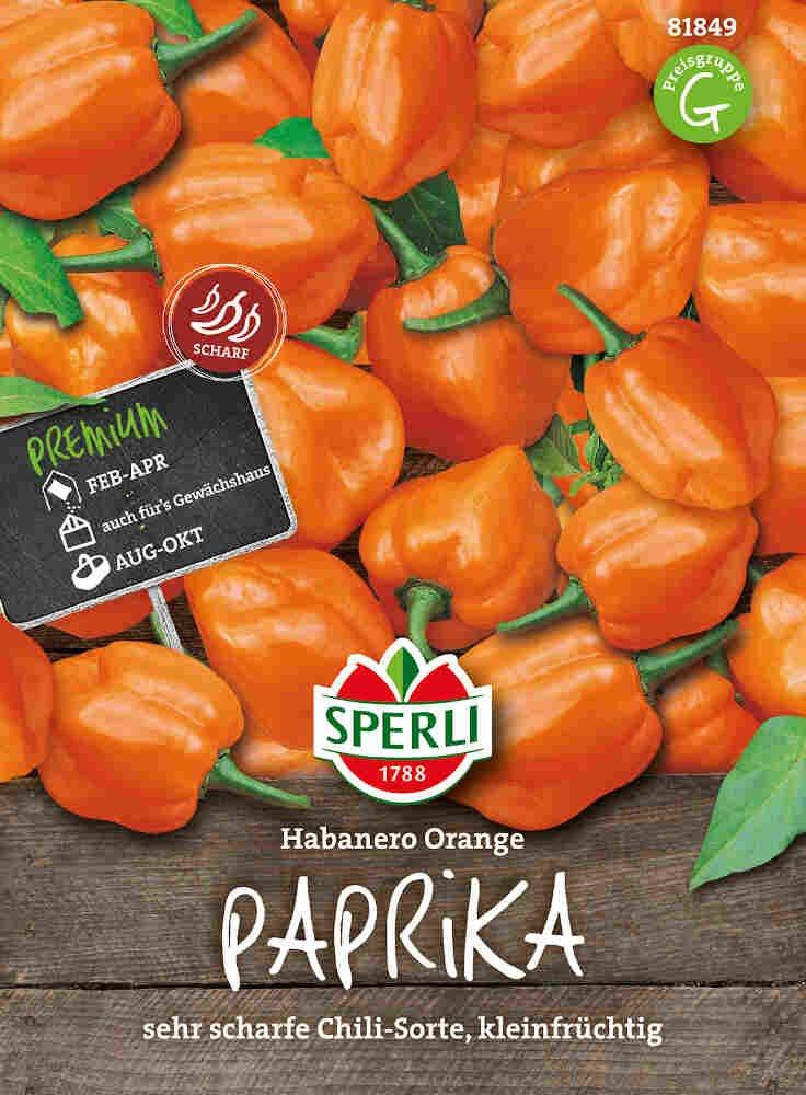 Chilipeberfrø - Paprika Habanero