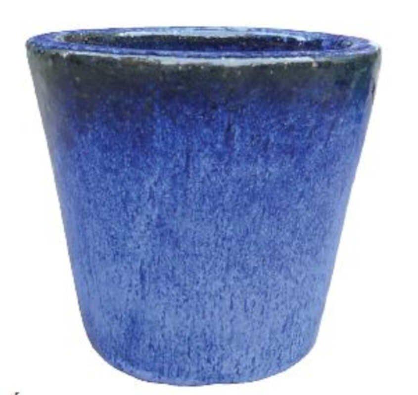 Cone pot  S/3 - Falling Blue D21