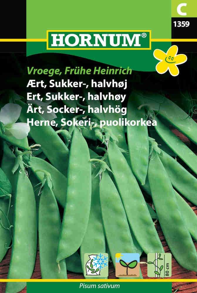 Ærtefrø - Sukkerært - halvhøj, Vroege Frühe