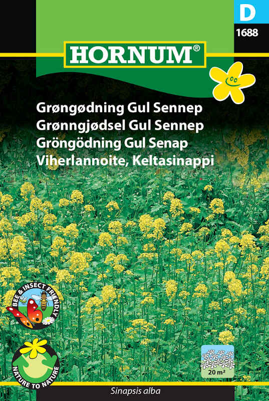 Grøngødning frø - Gul Sennep