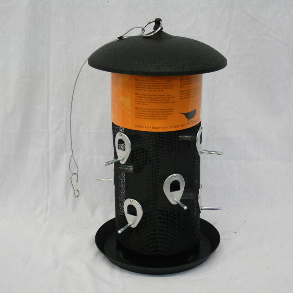 Fuglefoderautomat til frø stor model til flere fugle
