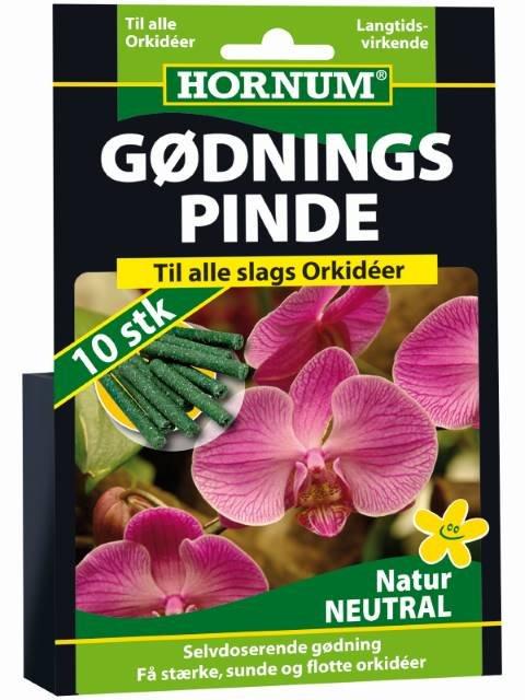 Gødningspinde til Orkide BD 10 pinde - HORNUM