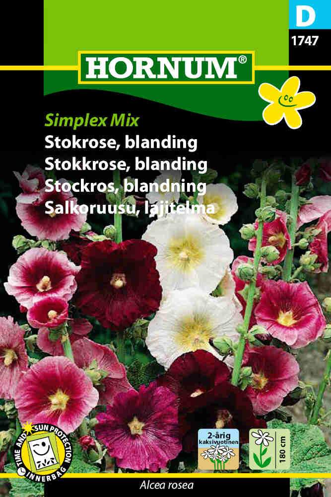 Stokrose frø- blanding - Simplex Mix