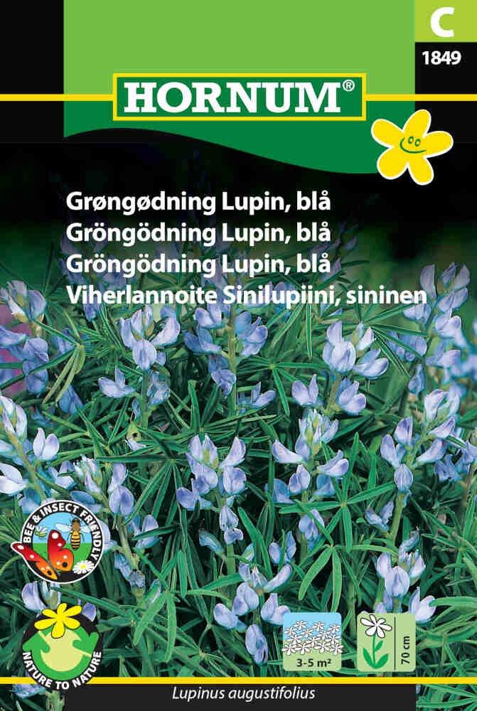Grøngødning frø - Lupin - blå