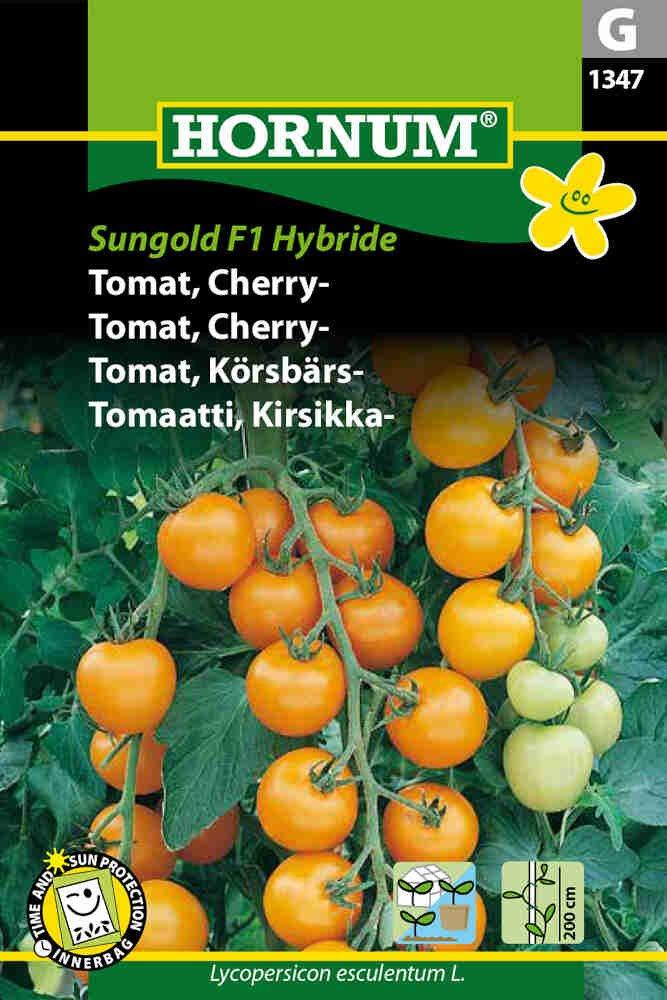 Tomatfrø - Cherrytomat - Sungold F1 Hybride