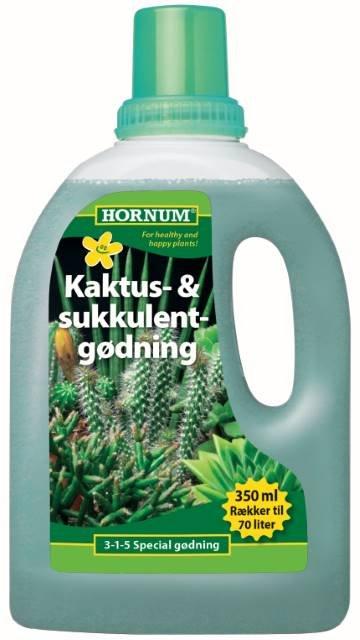 Kaktus- og Sukkulentgødning 350 ml. - HORNUM