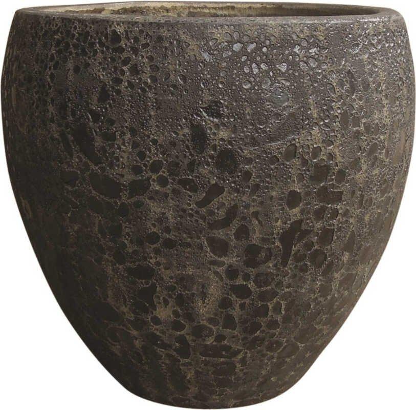 Round Egg Pot S/3 - Black