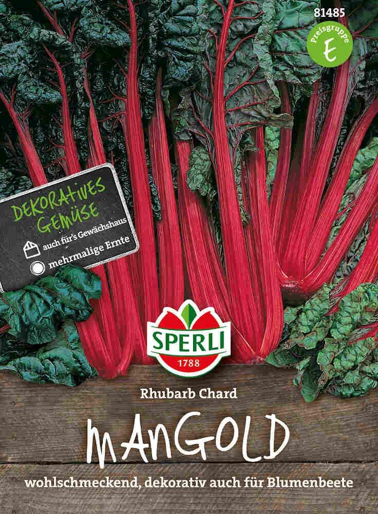 Bladbede frø - Mangold Rhubarb Chard