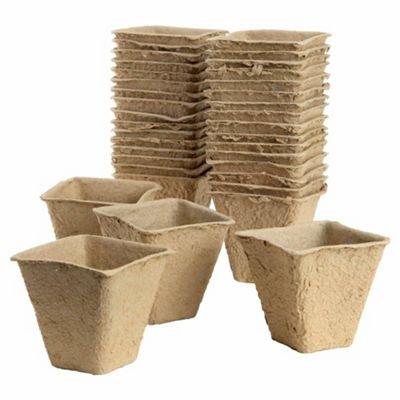 Plantpak Fibre Pots Square 6cm - 20stk