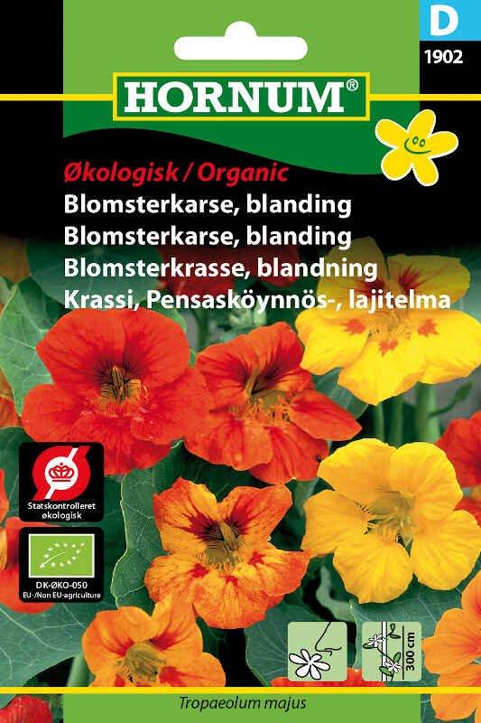 Økologisk Blomsterkarse frø - blanding