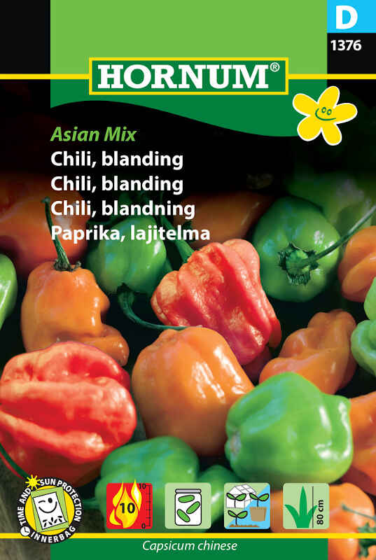 Chilifrø - blanding - Asian Mix
