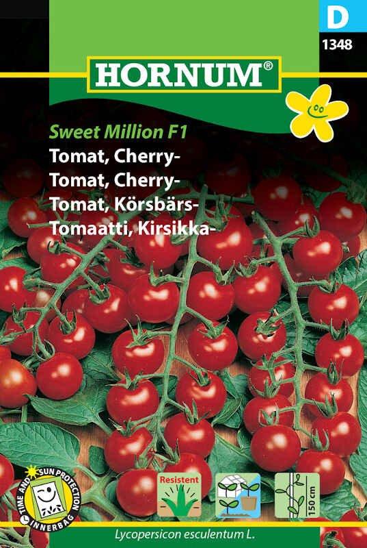 Tomatfrø - Cherrytomat - Sweet Million F1