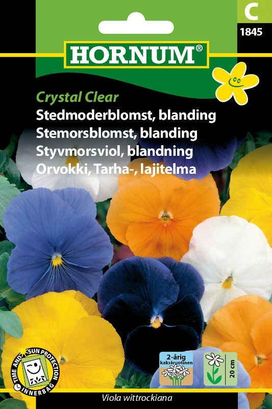 Stedmoderblomst frø - blanding Crystal Clear
