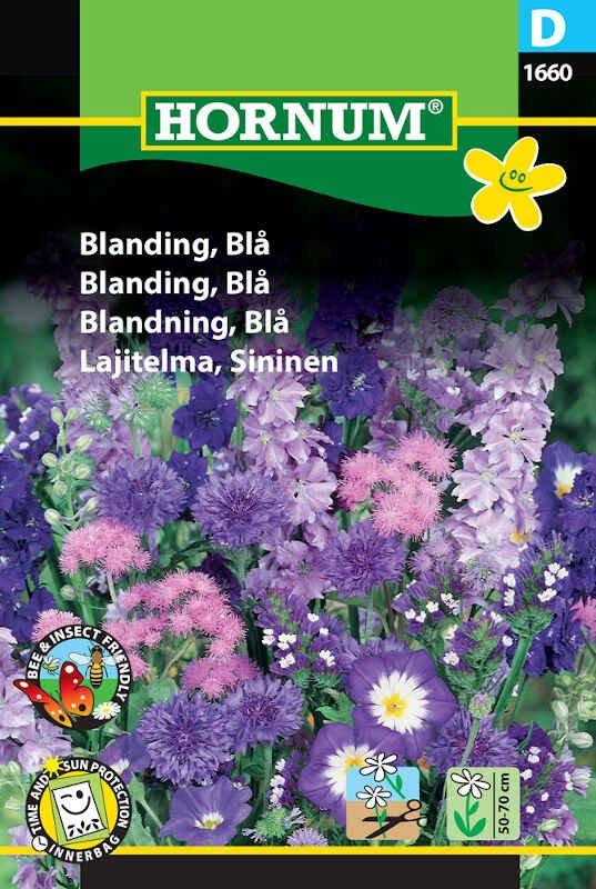 Blomster frøblanding - Blå