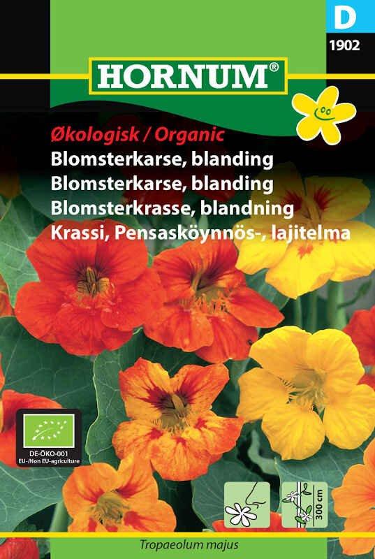 Blomsterkarse frø - Økologisk - blanding