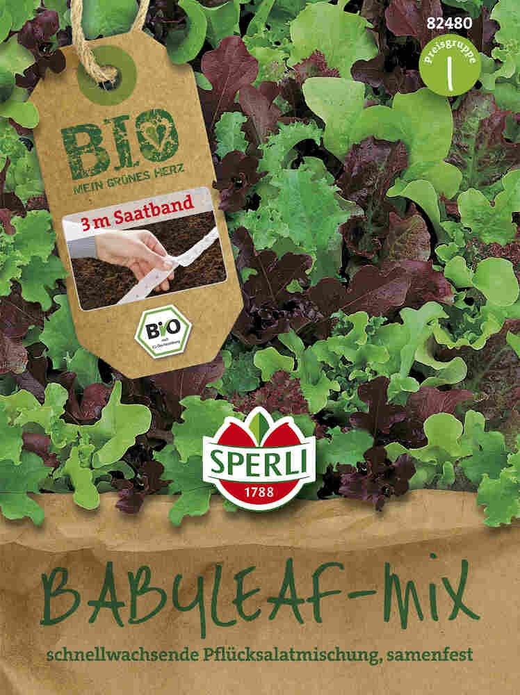 Salat, såbånd - babyleaf-mix - Økologisk