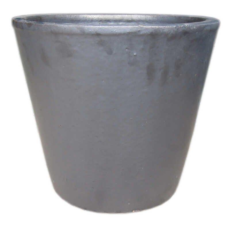Cone pot  S/3 - Matt Black D21