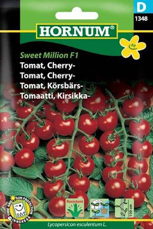 Tomatfrø - Cherrytomat - Sweet Million F1